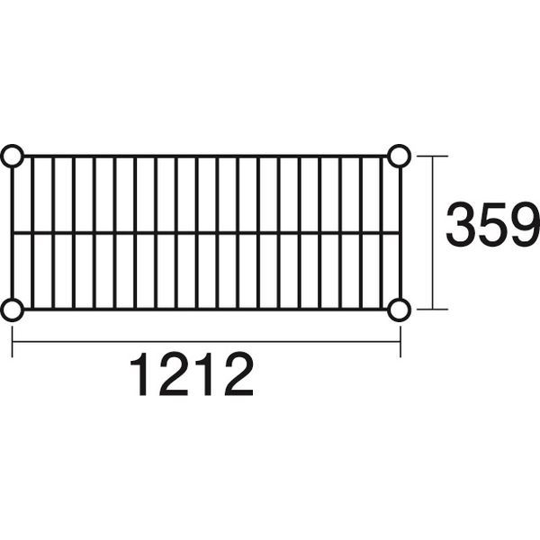 その他 ステンレスエレクター 棚 SAS 1220 KND-137036