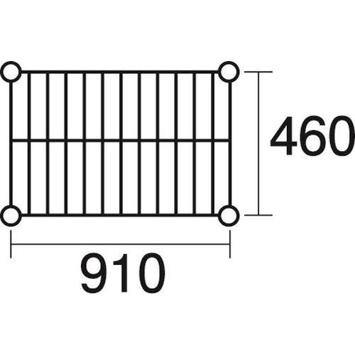その他 ステンレスエレクター 棚 SMS910 KND-137040