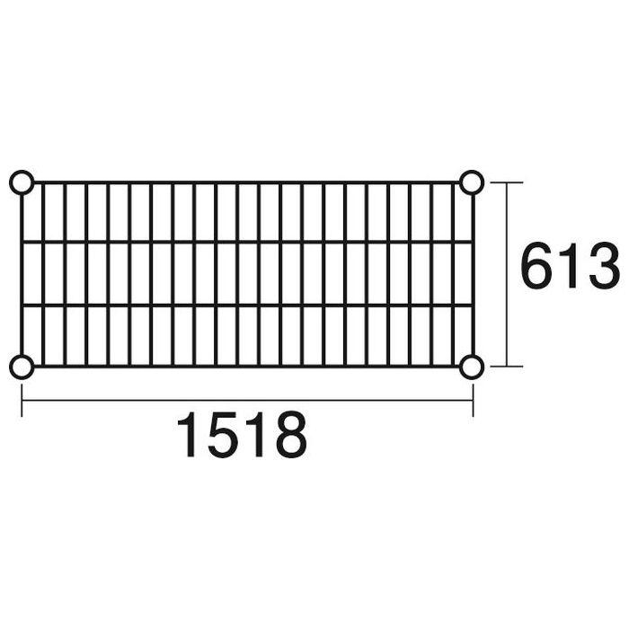 その他 ステンレスエレクター 棚 SLS1520 KND-137053