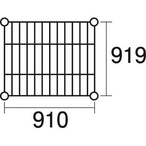 その他 ステンレスエレクター 棚 SLLS910 KND-137121