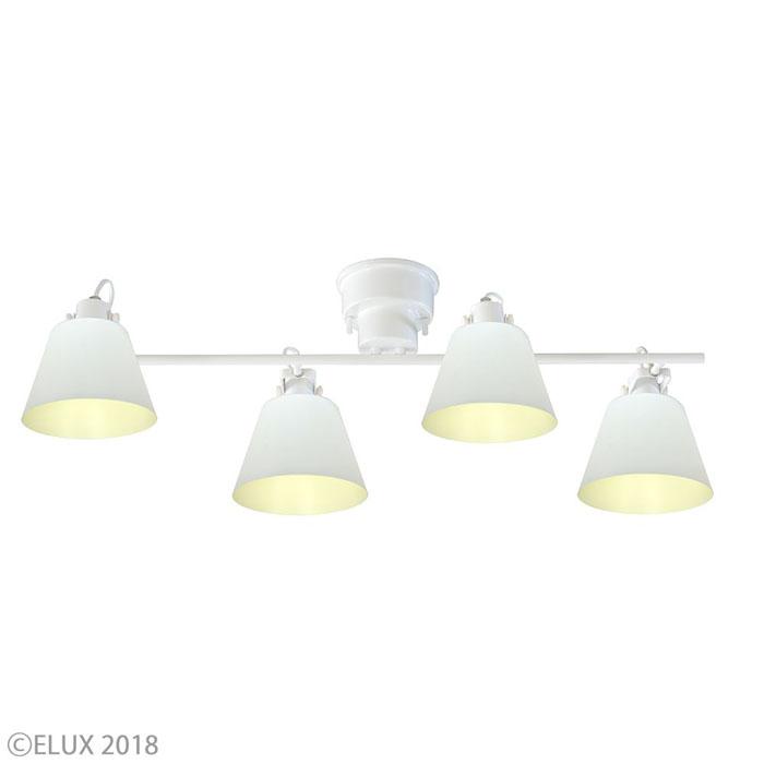 エルックス 【4灯シーリングスポットライト】フラッグス LC10930-WH