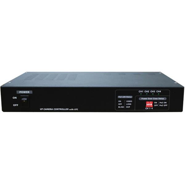 マザーツール UTC対応ワンケーブルAHDカメラ用電源ユニット(4チャンネル) MT-POC4RX【納期目安:1週間】
