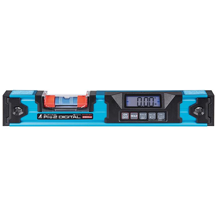 シンワ測定 ブルーレベルPro2 デジタル 350mm マグネット付 防塵防水 4960910753167
