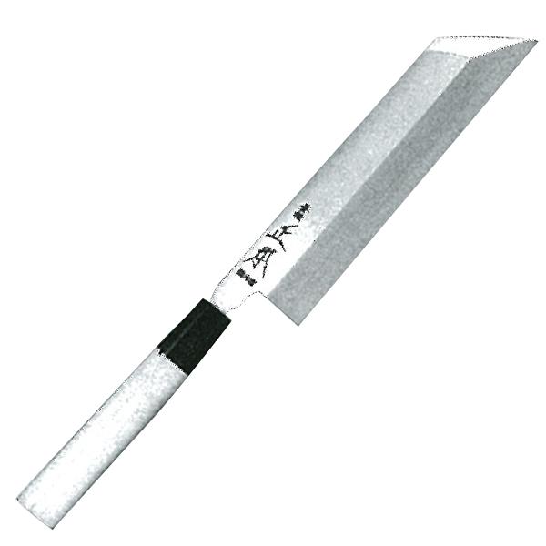 正本総本店 本焼・玉白鋼誂菱形薄刃庖刀225mm HS0922【納期目安:2週間】