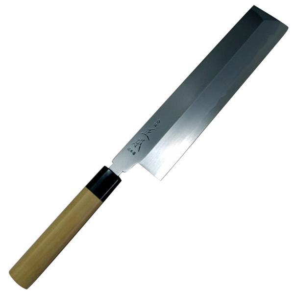 正本総本店 本霞玉青鋼誂角形薄刃庖刀240mm KA0824