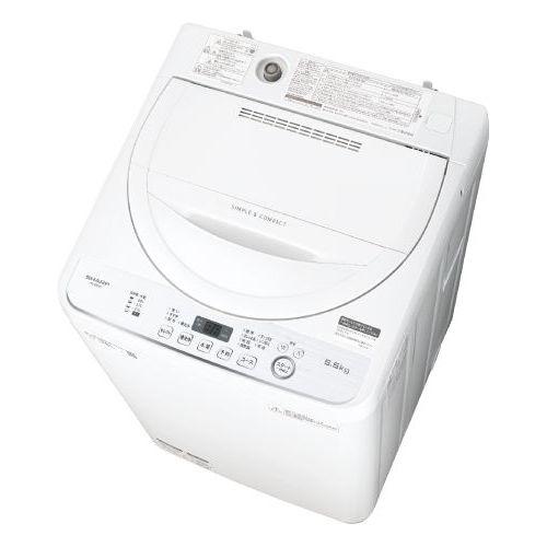 シャープ 全自動洗濯機 (洗濯5.5kg) ホワイト系 ES-GE5D-W【納期目安:1ヶ月】