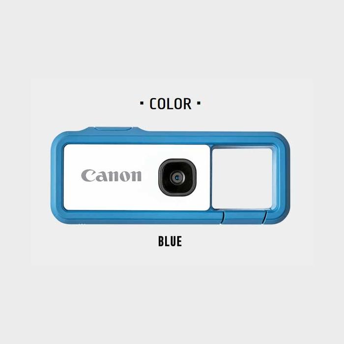 キヤノン デジタルカメラ iNSPiC REC ブルー FV-100-B【納期目安:1週間】