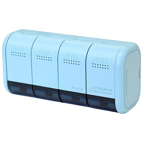 MEDIK 99.9%の除菌ができる 壁掛け用充電式歯ブラシ除菌ホルダー ミントブルー MDK-TS04MIN