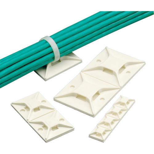 トラスコ中山 パンドウイット マウントベース アクリル系粘着テープ付き 白 (50個入) tr-8180162