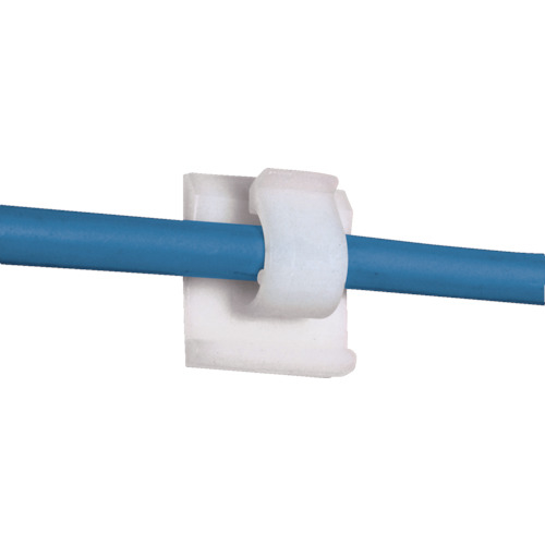 トラスコ中山 パンドウイット 固定具 コードクリップ ゴム系粘着テープ付ナチュラル1000個入 tr-8281381