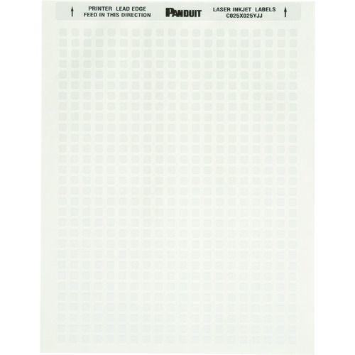 トラスコ中山 パンドウイット レーザープリンター用ラベル コンポーネントラベル 幅20.3mmx高さ5.1mm ポリエステル 白 8 枚/列 10,000枚入り C080X020YJJ tr-1373809