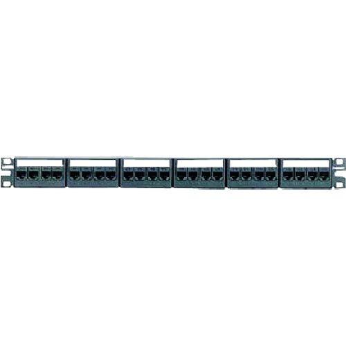 トラスコ中山 パンドウイット カテゴリ6モジュラーパッチパネルキット 4ポートフェースプレートタイプ 24ポート 1U CPPKL6TG24WBL tr-1477386