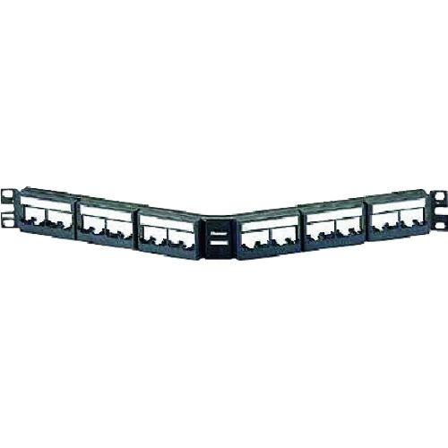 トラスコ中山 パンドウイット モジュラーパッチパネル枠 アングル型 24ポート CPPLA24WBLY tr-1280433