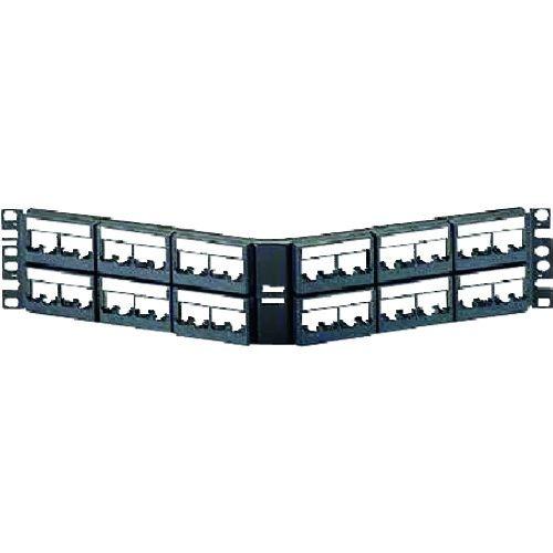 トラスコ中山 パンドウイット モジュラーパッチパネル枠 アングル型 48ポート CPPLA48WBLY tr-1280439【納期目安:1ヶ月】