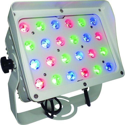 トラスコ中山 トライト LED投光器RGB15°白ボディ 簡易コントローラー付 tr-1489937
