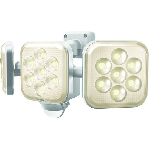 トラスコ中山 ライテックス 8W 3灯フリーアーム式 LEDセンサーライト電球色 tr-1609994