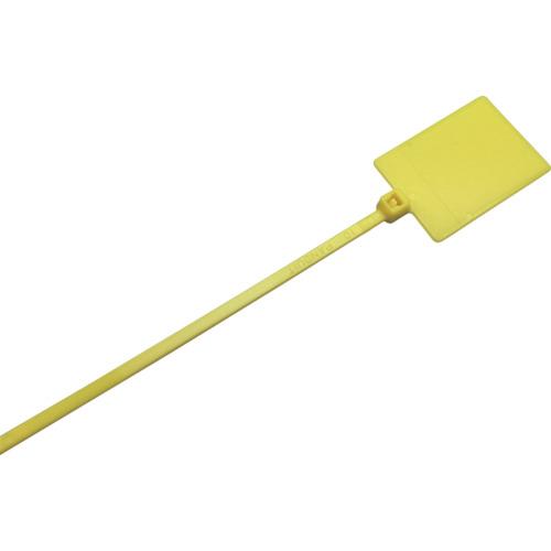 トラスコ中山 パンドウイット 旗型タイプナイロン結束バンド 黄 (1000本入) tr-8503812