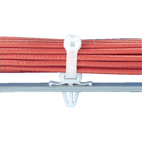 トラスコ中山 パンドウイット 押し込み型固定具 ナチュラル (100個入) tr-8257384