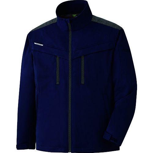 トラスコ中山 ミドリ安全 VERDEXCEL ストレッチ防寒ジャンパー VE2007 上 ネイビー S tr-1493570