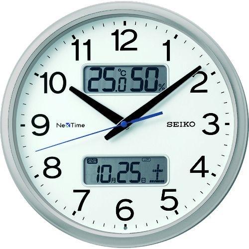"""トラスコ中山 SEIKO 電波掛時計 """"セイコーネクスタイム ZS251S"""" (ハイブリッド電波時計) tr-1584426"""