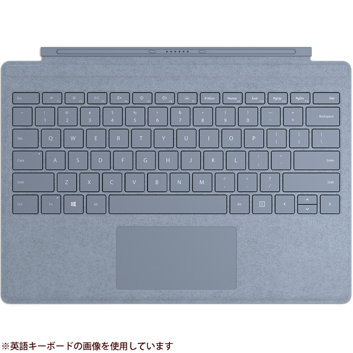 【送料無料】 マイクロソフト 【タブレットケース】Surface Pro Signature タイプ カバー 日本語レイアウト・アイスブルー FFP-00139