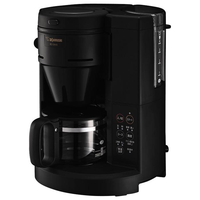 送料無料 象印 コーヒーメーカー 本格的な挽きたてコーヒーが自宅で楽しめる 大注目 挽きから抽出まで全自動 EC-SA40-BA 感謝価格