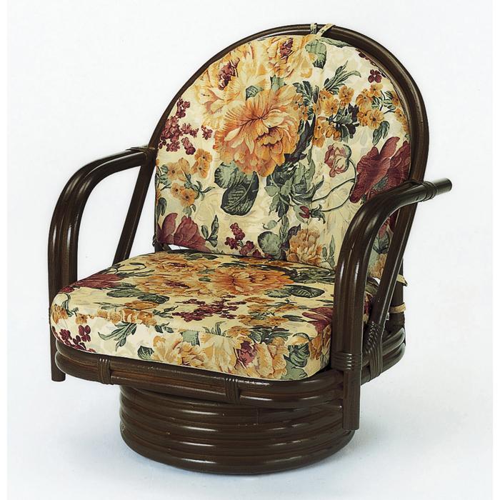 今枝商店 Romantic Rattan 回転座椅子(ミドル) S542B