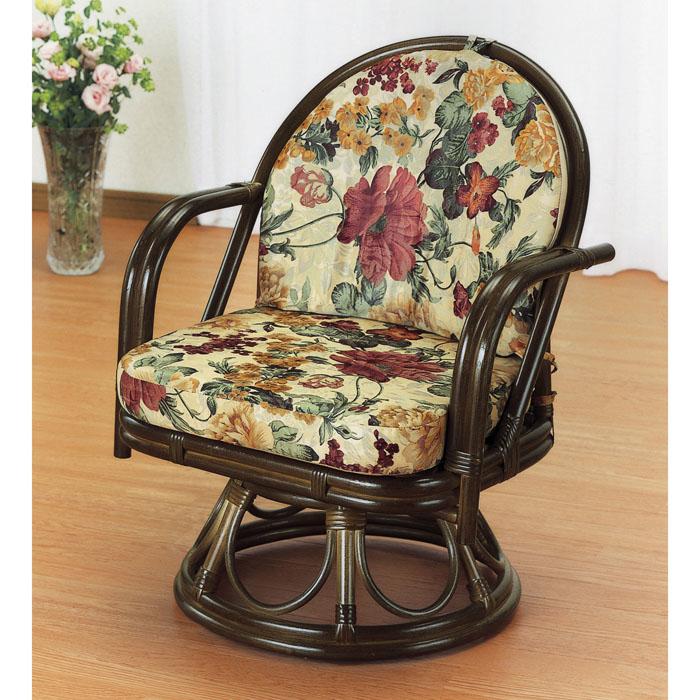 今枝商店 【4個セット】Romantic Rattan 回転座椅子(ミドルハイ) Z4S543B