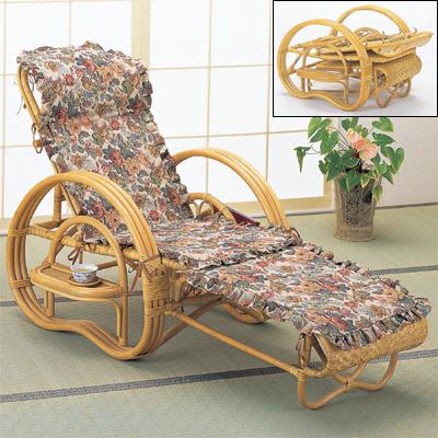 今枝商店 Romantic Rattan 三つ折寝椅子 A200CP【納期目安:追って連絡】