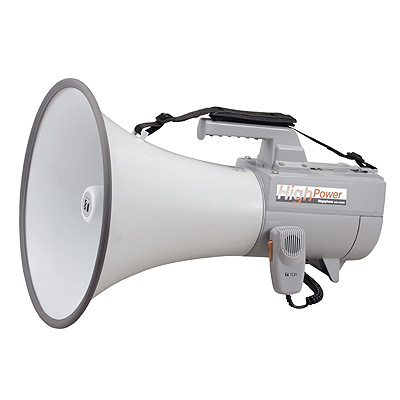 TOA 【抗菌】大型ショルダーメガホン(ホイッスル音付、最大出力45W) ER-2130W