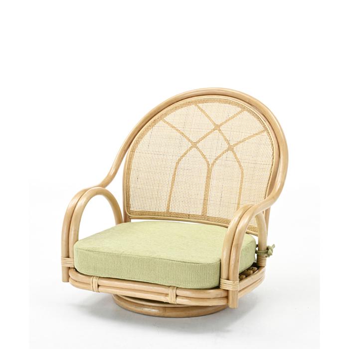 今枝商店 Romantic Rattan 籐回転座椅子 S360_