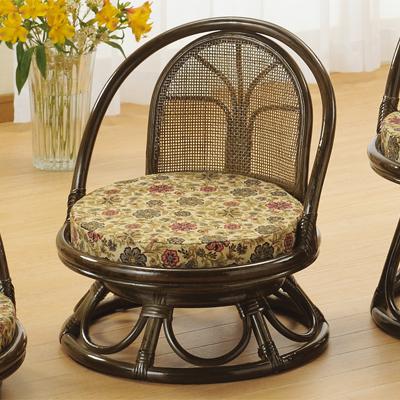 今枝商店 Romantic Rattan 回転座椅子 S512B
