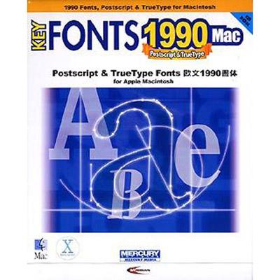 マーキュリー・ソフトウェア KEY FONTS 1990 Mac MSJ0153
