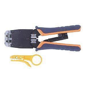 サンワサプライ かしめ工具(ラチェット付き) HT-500R