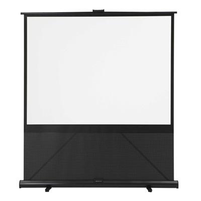 キクチ 床置き立ち上げモバイルスクリーン 80インチ(4:3)サイズ GRANDVIEW GFPシリーズ (GFP80HD) GFP-80W
