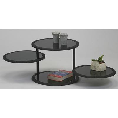 sund ラウンドガラステーブル(GT-45BK) GT-45BK