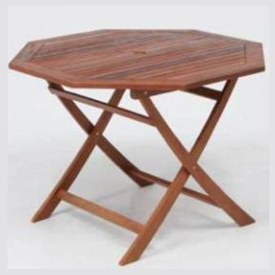 不二貿易 八角テーブル 110cm #GT05FB (GT05FB) (BROWN) 81062