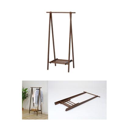 不二貿易 【3個セット】木製ハンガー 6110-6-80(KI)BR (ブラウン) 89251