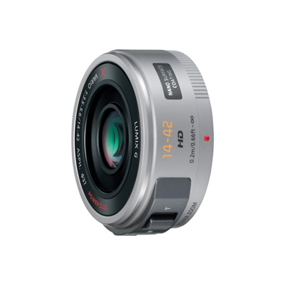 パナソニック デジタル一眼カメラ用交換レンズ (シルバー) H-PS14042-S