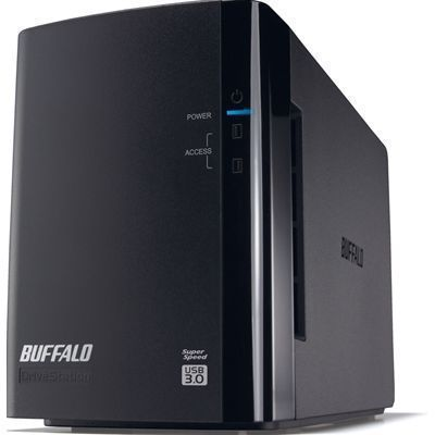 バッファロー ミラーリング機能搭載 USB3.0用 外付けハードディスク 2ドライブモデル 2TB (HDWL2TU3/R1J) HD-WL2TU3/R1J