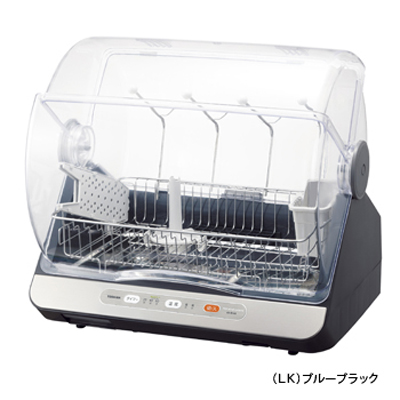 東芝 コンパクトに置けて、ハイパワー清潔乾燥!食器乾燥器(6人用)(ブルーブラック) VD-B15S-LK