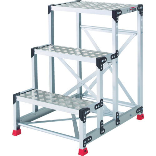トラスコ中山 TRUSCO 作業用踏台 アルミ製・縞板タイプ 天板寸法600X400XH900 TSFC-369