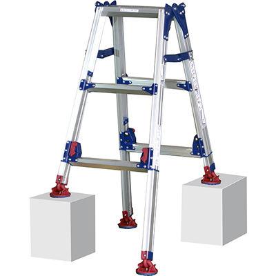 ピカコーポレイション ピカ 四脚アジャスト式脚立かるノビSCL型 自在脚タイプ2~3尺 SCL-J90A