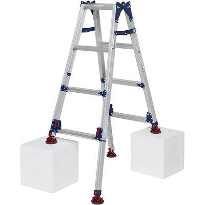 ピカコーポレイション ピカ 四脚アジャスト式脚立かるノビSCL型 自在脚タイプ3~4尺 SCL-J120A