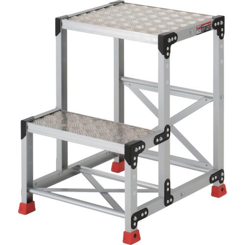 トラスコ中山 TRUSCO 作業用踏台 アルミ製・縞板タイプ 天板寸法500X400XH700 TSFC-257