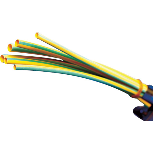 パンドウイットコーポレーション パンドウイット 熱収縮チューブ 標準タイプ イエローグリーン 1箱(袋)=25本 HSTT12-48-Q45