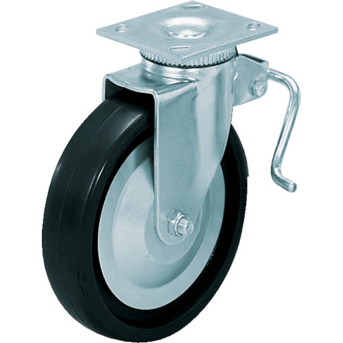 スガツネ工業 スガツネ工業 重量用キャスター径152自在ブレーキ付D(200-133-471) 31-406B-PD