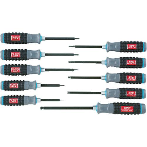 京都機械工具 KTC 樹脂柄ボールポイントヘキサゴンドライバセット[10本組] TD1HBP10B TD1HBP10B