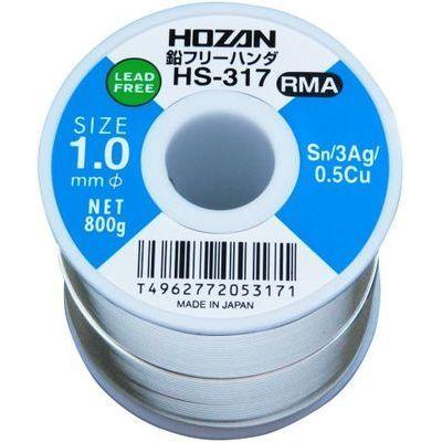 ホーザン HOZAN 鉛フリーハンダ 1.0mm/800g HS-317 HS-317