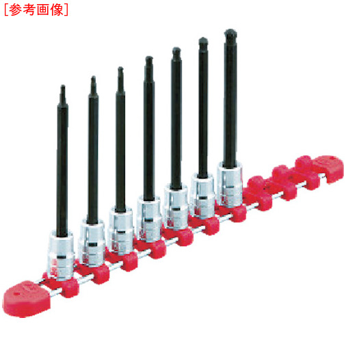 京都機械工具 KTC 9.5sq.ロングヘキサゴンビットソケットセット[9コ組] TBT3L09BH TBT3L09BH